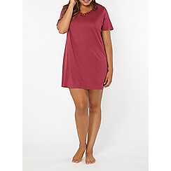 Evans - Berry lace short nightdress