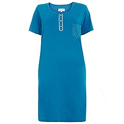 Evans - Teal spot nightdress