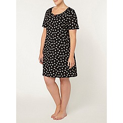 Evans - Black bow print short nightdress