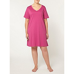 Evans - Pink cotton short nightdress