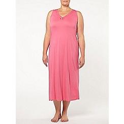 Evans - Pink viscose long nightdress