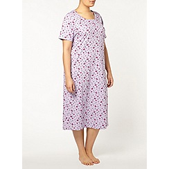 Evans - Lilac butterfly long night dress