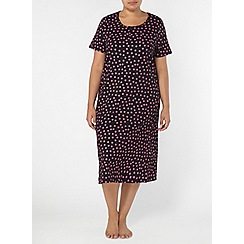 Evans - Black floral long nightdress