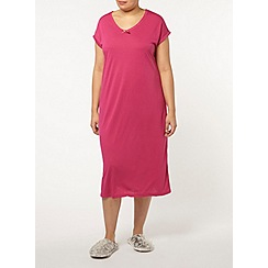 Evans - Raspberry long nightdress