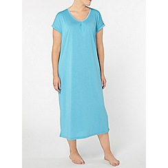 Evans - Teal blue long nightdress