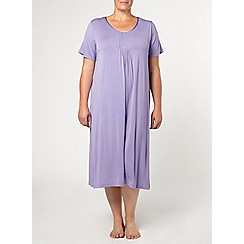 Evans - Purple pintuck long nightdress