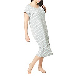 Evans - Grey geometric floral long nightdress