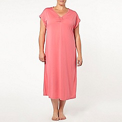 Evans - Pink viscose long nightdress
