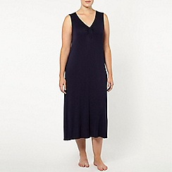 Evans - Navy long night dress