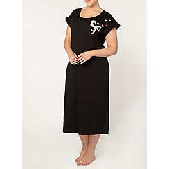 Evans - Black bow long nightdress