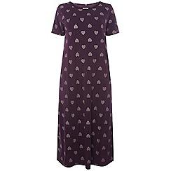 Evans - Purple heart long nightdress