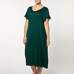 Evans - Viscose green night dress