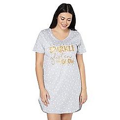 Evans - Grey 'sparkle' short nightdress