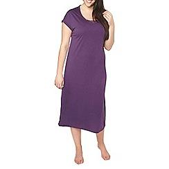 Evans - Purple long nightdress with viscose