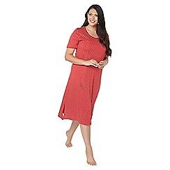 Evans - Red star print long nightdress