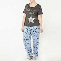 Evans - You're a star blue and grey pyjama set