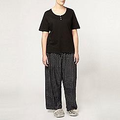 Evans - Lilac daisy pyjama set