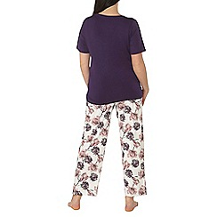 Evans - Purple rose bloom pyjama set