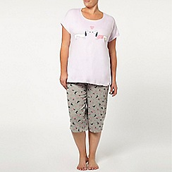 Evans - Sausage dog crop pyjama set