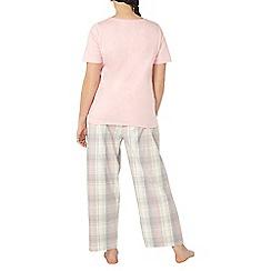 Evans - Pink checked pyjama set