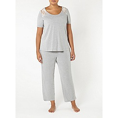 Evans - Grey marl pyjama set