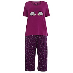 Evans - Purple hedgehog pyjama set
