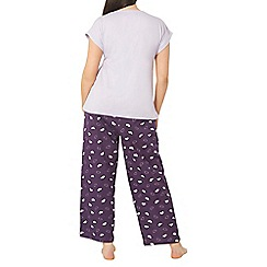 Evans - Purple cloud print pyjama set