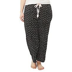 Evans - Black spotty pyjama bottoms