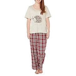 Evans - Berry and oatmeal hedgehog pyjama set