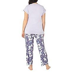 Evans - Lilac spring floral pyjama set