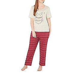 Evans - Red queen owl print pyjama set