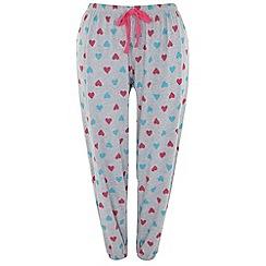 Evans - Grey heart pyjama pant