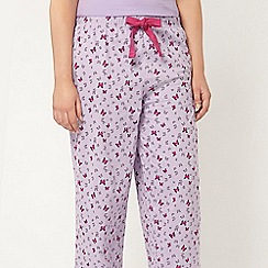Evans - Lilac butterfly pyjama bottom