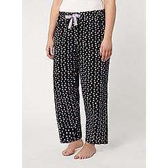 Evans - Lilac spot pyjama bottom