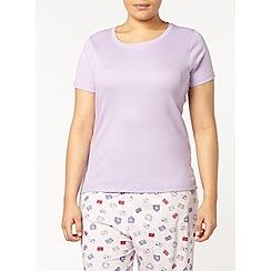 Evans - Lilac pyjama top