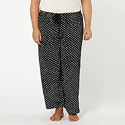 Evans - Black and white spot pyjama bottoms