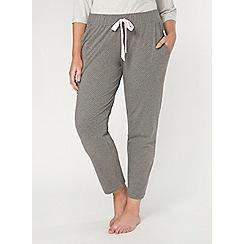 Evans - Grey spot print lounge bottoms