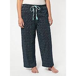 Evans - Navy spotted pyjama bottoms