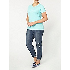 Evans - Mint green pyjama top