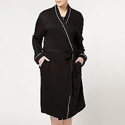 Evans - Satin trim dressing gown