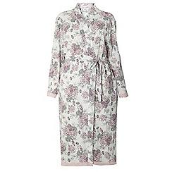 Evans - Ivory floral bouquet robe