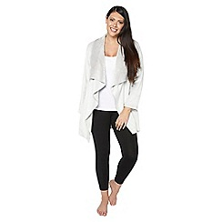 Evans - Grey soft touch lounge robe