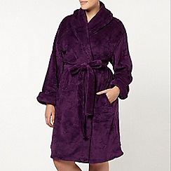 Evans - Purple star sheered robe