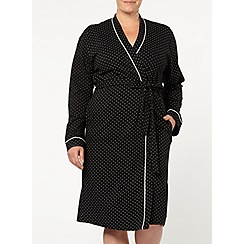 Evans - Black and white spot robe