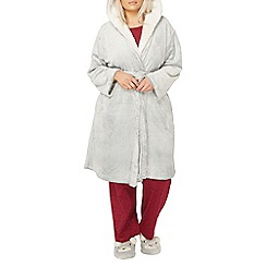 Evans - Grey bear dressing gown
