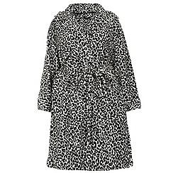 Evans - Grey leopard print robe
