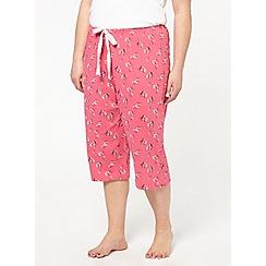 Evans - Pink floral crop pant