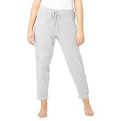 Evans - Grey lace lounge jogger