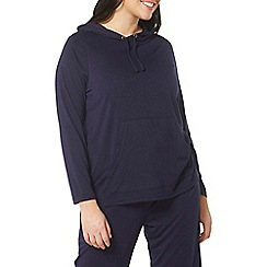 Evans - Navy blue lounge hoodie with viscose