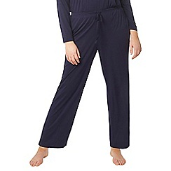 Evans - Navy blue lounge bottoms with viscose